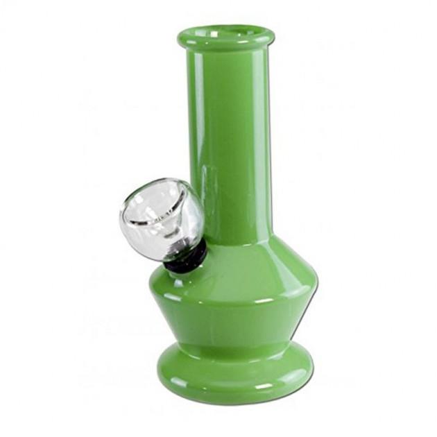 Mini Borsilikatglas Bong Grün
