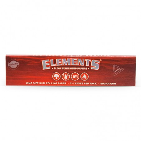 Elements RED Kingsize Slim HEMP