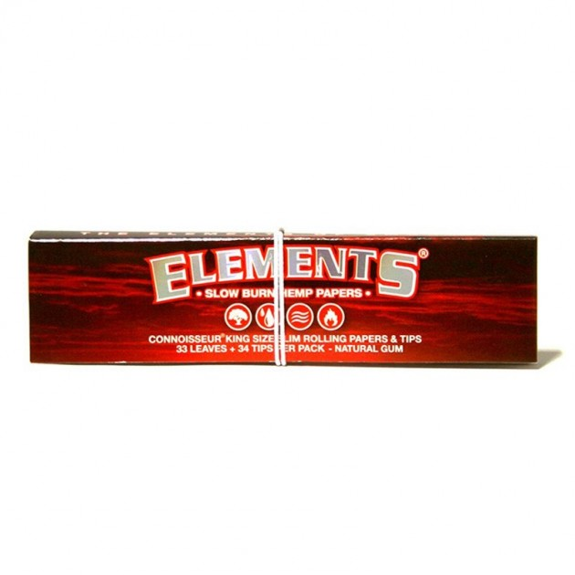 Elements RED Connoisseur Kingsize HEMP with Tips