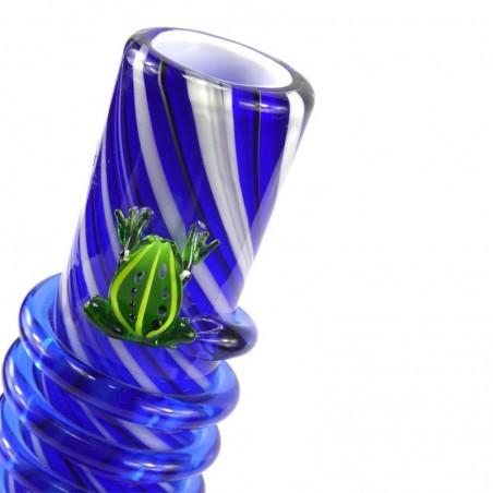 Frog Softglas Bong (mit kleinem Kopf) Blau