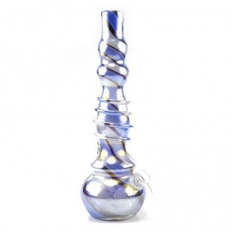 Double Bubble Softglas Bong Blau