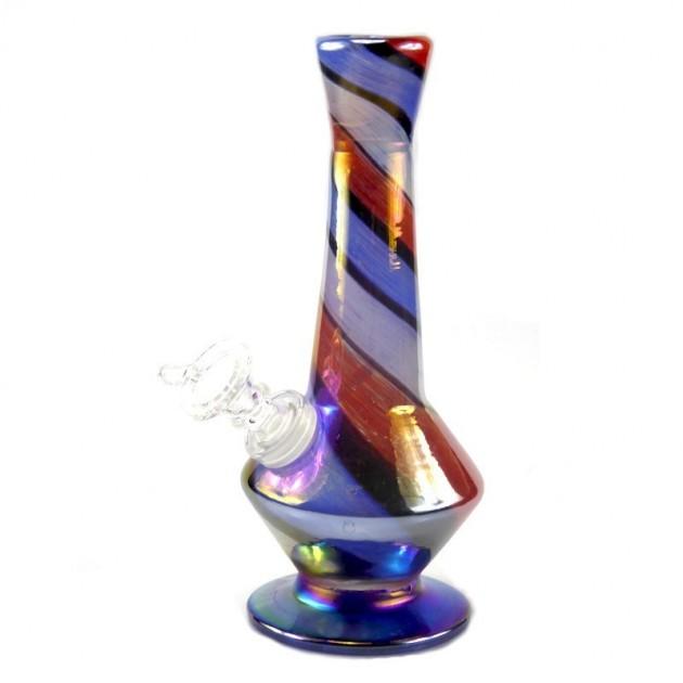 Diamond Genie Softglas Bong Rot-Blau