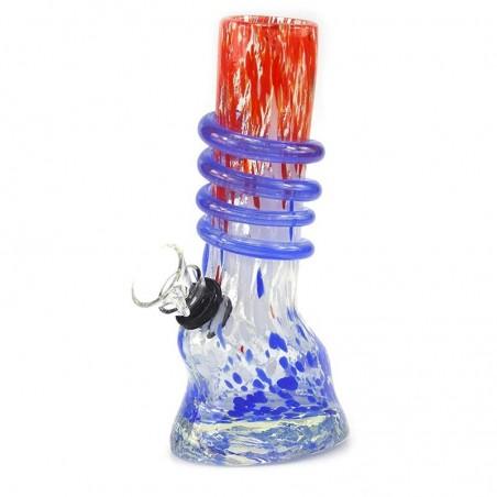 Horseshoe Wrap Softglas Bong Rot-Blau
