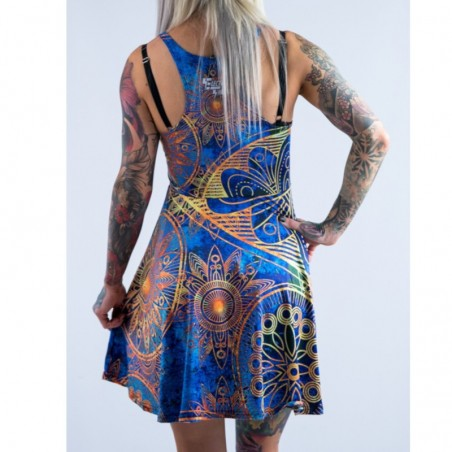 Gold Boho Flowy Racerback Dress