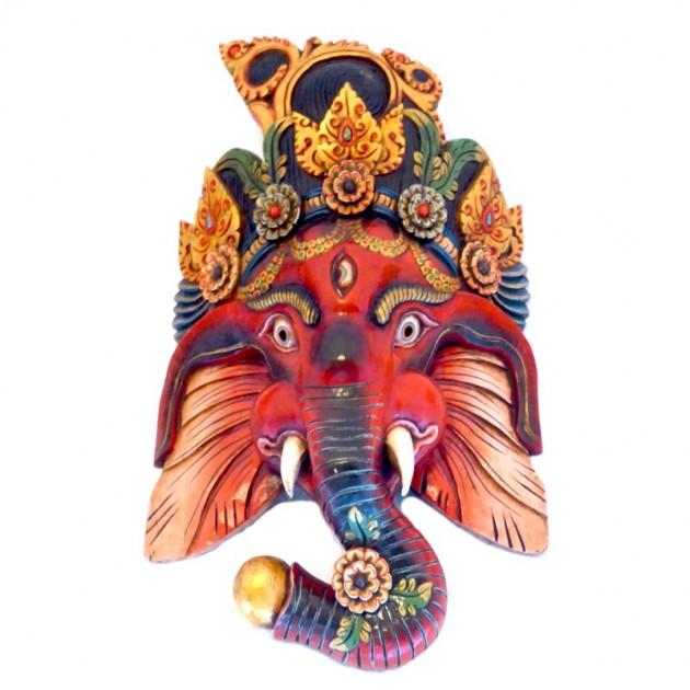 Ganesh Handgemachte Holz Maske