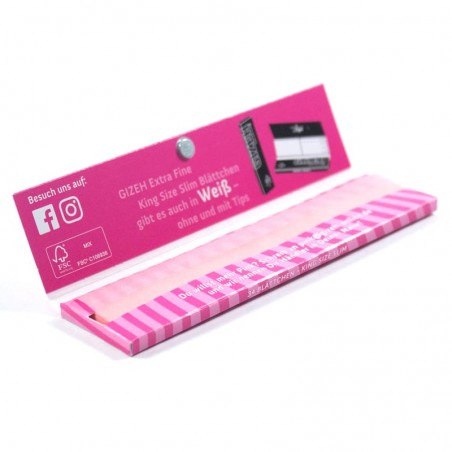 Gizeh EXTRA FINE King Size Slim Pink