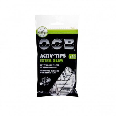 OCB Activ Tips Extra Slim, 50er