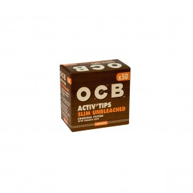 OCB ACTIV Tips Slim-Unbleached