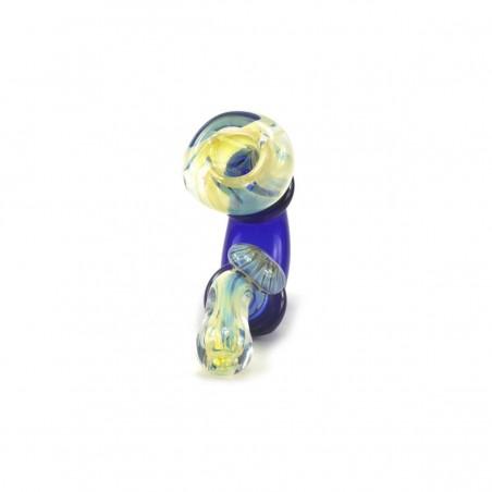 Glaspfeife Cobalt Flower