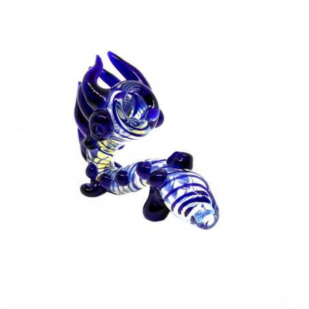 Horns&Dots Glaspfeife Blau