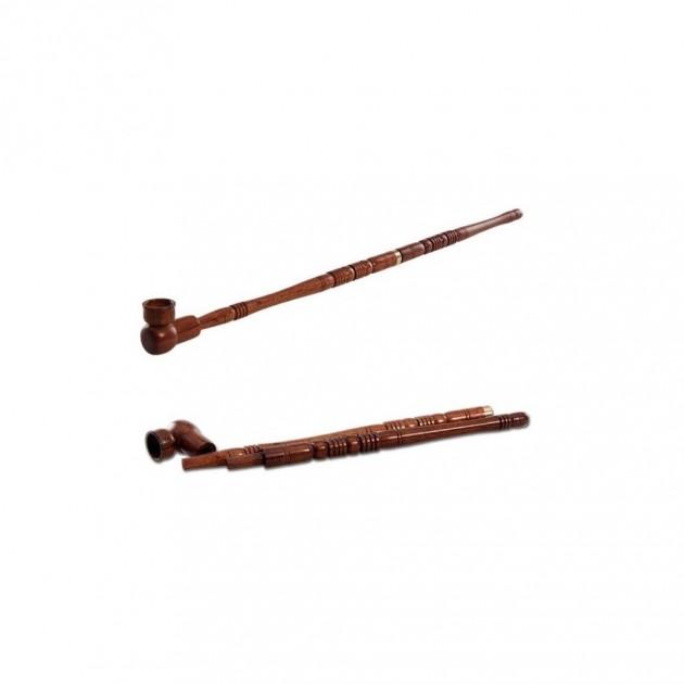 Holzpfeife 2-tlg. mit Messingring