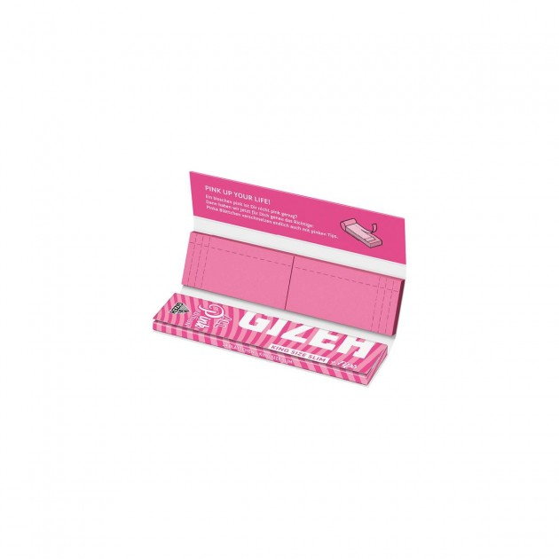 Gizeh PINK+Tips King Size Slim