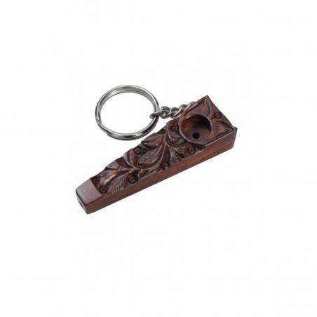 Holzpfeife mit Schlüsselring 70mm