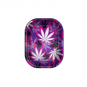 """Rolling Tray """"Pink Leaves 1/4"""""""