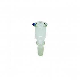 Glaskopf für Bong  Zylinderform Seitenansicht
