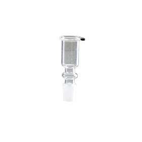 Glas Kopf für Bong Zylinderform 18,8er Vorderansicht