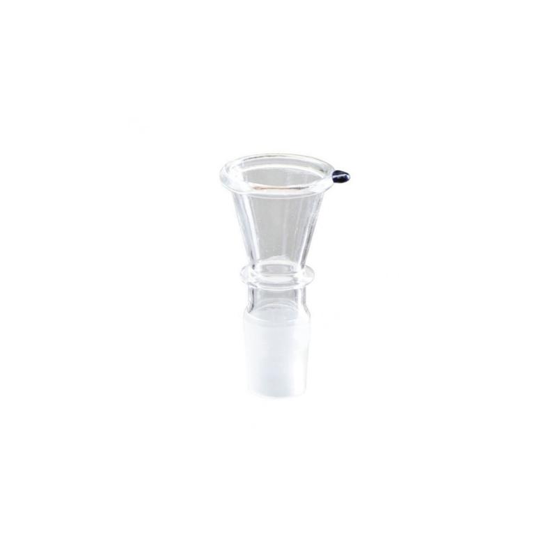 Glas Kopf für Bong Trichterform 18,8er Vorderansicht