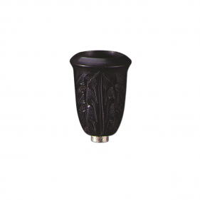 Ebenholzkopf In Zylinderform für Metallchillums geschnitzt von Black Leaf Seitenansicht
