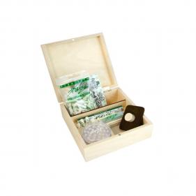 Holz Kasten mit Inhalt von PURIZE® Präsentationsansicht