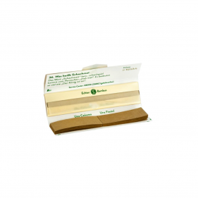 "Zigarettenpapier aus Bambus mit Tips ""Cañuma"" offene Verpackung"