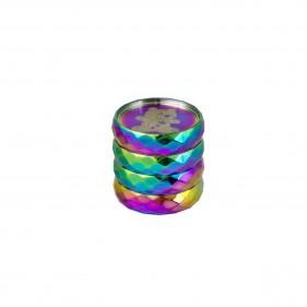 Grinder aus Aluminium Regenbogenbär Seitenansicht