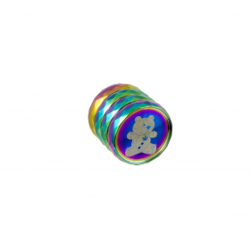 Grinder aus Aluminium Regenbogenbär Vorderansicht