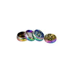 Grinder aus Aluminium Regenbogenbär geteilte Sicht