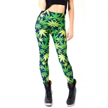 Bedruckte Cannabis Leggings